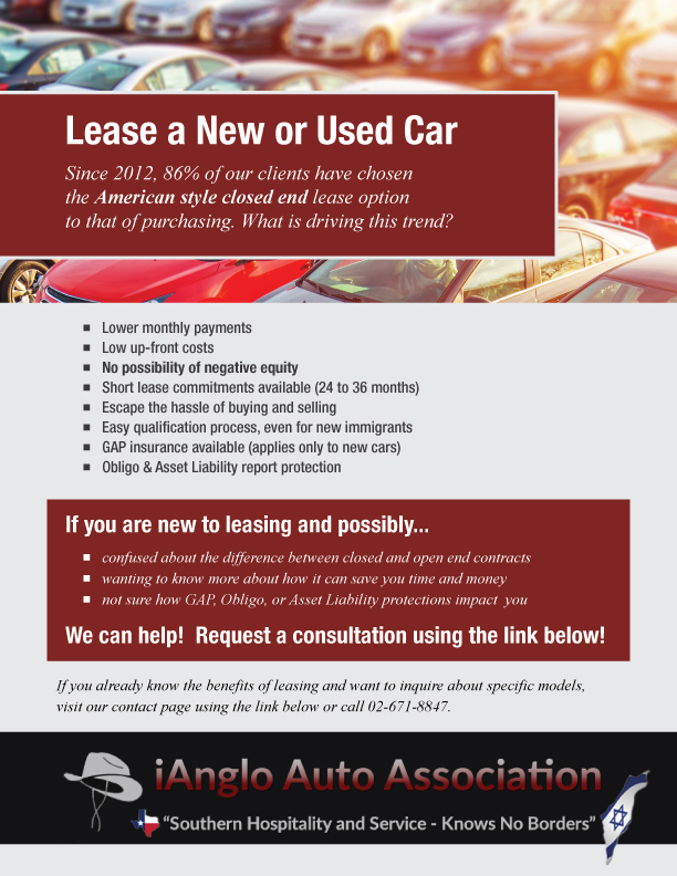 Buy Lease Car Israel